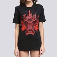 Givenchy Women Man Casual Print Short Sleeve Tunic Shirt Top Blouse