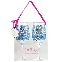 Acrylic Wine Glasses in Nice Tail by Lilly Pulitzer