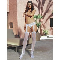 Verona Hosiery Garter with Attached Thigh Highs