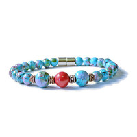 Coral & Turquoise Magnetic Therapy Bracelet