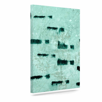 "Iris Lehnhardt ""Texture & Pattern"" Abstract Teal Canvas Art"