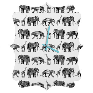 Sharon Turner Graphic Zoo Quatrefoil Clock