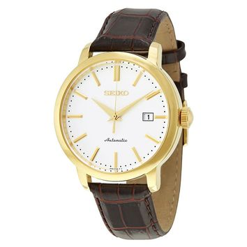 Seiko Classic Automatic White Dial Mens Watch SRPA28