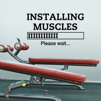 Sports Quotes Wall Decals Instulling Muscules Please Wait Gym Stickers- Motivational Quotes Gym Wall Decals Fitness Stickers Wall Art Q159