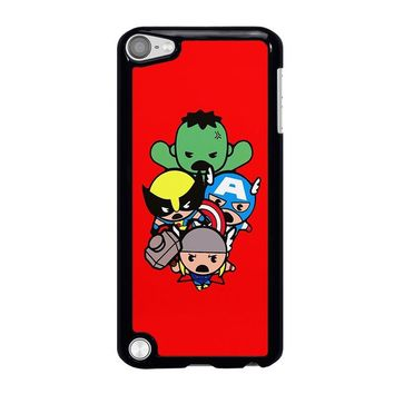 KAWAII CAPTAIN AMERICA HULK THOR WOLVERINE Marvel Avengers iPod Touch 5 Case Cover