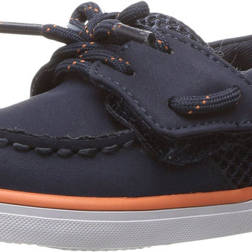Sperry Top-Sider Kids Mens Intrepid Crib Jr. (Infant/Toddler) Navy/Orange 4 Toddler M '