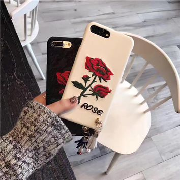 Lace Embroidery Flower Tassel Apple iPhone 6/6Plus Mobile Phone Hard Shell Case iPhone 7 Phone Case