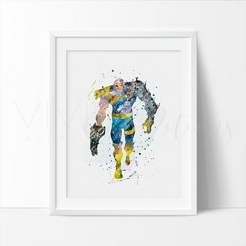 Cable Watercolor Art Print