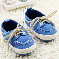 New Toddler Boy Girl Soft Sole Crib Shoes