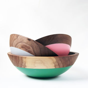 Walnut Nesting Bowls, Mixed Mother's Day Collection