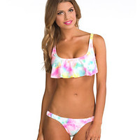 Bikini Lab Baby, I Was Born Tie Dye Hanky Bra Top & Skimpy Hipster Bottom | Dillard's Mobile