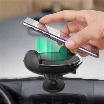 Quick Charge 3.0 Car Charger with Phone Holder Air Outlet Mounting Qi Wireless Chargers Fast Charger for iPhone 8 iPhone X