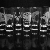 Game of Thrones Set- Choice of Four House Shot Glasses