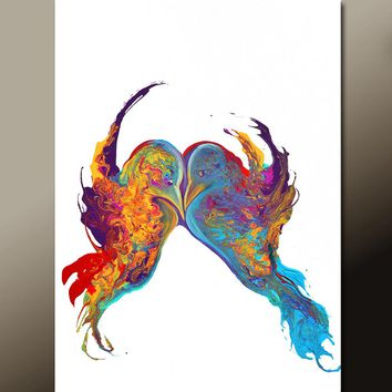 Abstract Wall Art Print 11x14 Contemporary Bird Giclee by Destiny Womack - dWo - Forever and Always