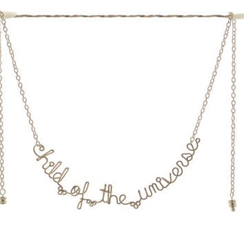 ON SALE - Child of the Universe Necklace / Bracelet - Inspirational Boho Quote Jewelry - Desiderata Spiritual Words Necklace