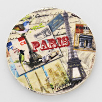 Vintage Paris Travel Compact Mirror