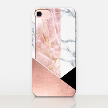 Marble Pink Phone Case For-iPhone 7 Case-iPhone 7 Plus Case-iPhone SE Case-iPhone 6S case - iPhone 6 case-iPhone 5 Case Samsung S7