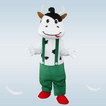 White and Black Bull / Cow Costume with Suspenders