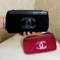 Chanel Fashion Women Waterproof Oxford Cloth Bag Large Cosmetic Bag