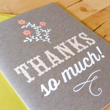 Thanks so much Greeting Card - paper goods, stationary, greeting card, thank you card, flowers