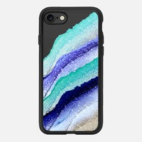 FLAWLESS WAVES AQUA & BLUE by Monika Strigel iPhone 7 Hülle by Monika Strigel | Casetify