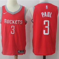 Best Deal Online NBA Authentic Basketball Player Jerseys Houston Rockets # 3 Chris Paul Red