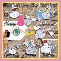 RTS-Princess Inspired Charm Necklaces