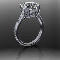 Forever Brilliant Moissanite and Diamond Engagement Ring 5.5 CTW