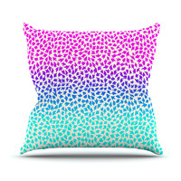 "Sreetama Ray ""Ombre Arrows"" Blue Pink Outdoor Throw Pillow"