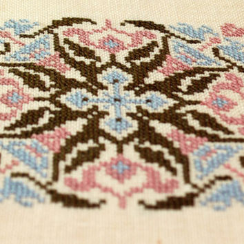 Just Nan Abstract Finished Cross Stitch Ornament by epicstitching