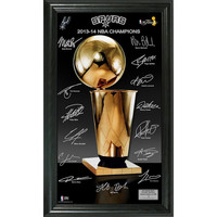 San Antonio Spurs 2014 NBA Finals Champions inTrophyin Signature Photo