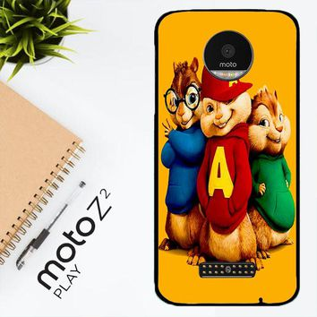 Alvin And The Chipmunks Character V 2074 Motorola Moto Z2 Play Case
