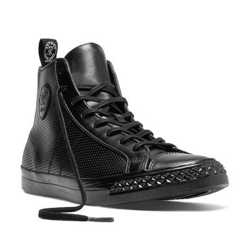 Perforated Rambler Hi in Black
