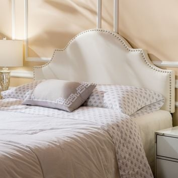 Bianca Adjustable Full/ Queen Studded Fabric Headboard by Christopher Knight Home | Overstock.com Shopping - The Best Deals on Headboards