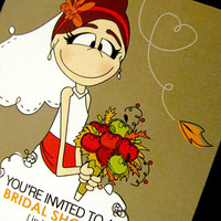 Bridal Shower InvitationFall Inspired Set of 20 by littletoad