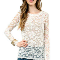 Lady in Lace Top $32