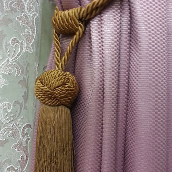 Curtain Accessories - Macrame Curtain Accessories - Brown Accessories - F712