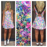 June Bloom Cutout Dress