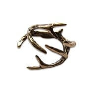 Deer Antler Ring (Solid Bronze, 4)