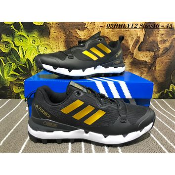 KUYOU A454 Adidas Terrex Gore Men Casual Sneakers Black Gold