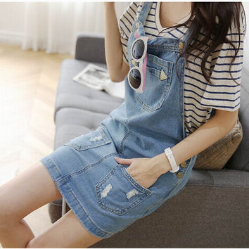 Real Photo Denim Spaghetti Strap dress Mori Girl Women Denim Casual Sundresses Fashion Cotton Dress Plus Size Dress brand S-XXL