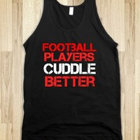 FOOTBALL PLAYERS CUDDLE BETTER