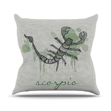 "Belinda Gillies ""Scorpio"" Throw Pillow"