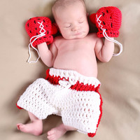 Newborn Baby Girls Boys Crochet Knit Costume Photo Photography Prop = 4457478532