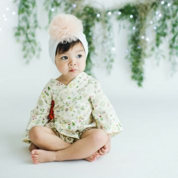 Fall Fox Baby Kimono Romper - Limited Edition!