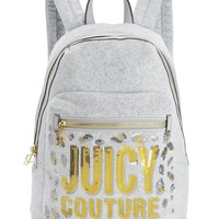 Silver Lining Juicy Leopard Velour Backpack by Juicy Couture, O/S