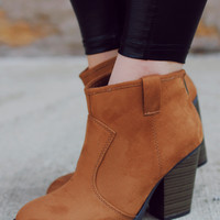 Autumn Awaits Bootie - Cognac