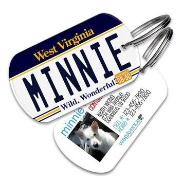 West Virginia License Plate Pet Tag