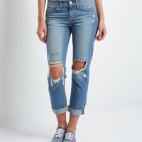 Aeropostale  Medium Wash Destroyed Boyfriend Jean