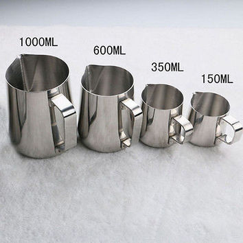 Stainless Steel Espresso Coffee Pitcher Craft Latte Milk Frothing Jug